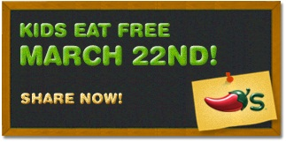 Chili's Kids Eat Free March 22