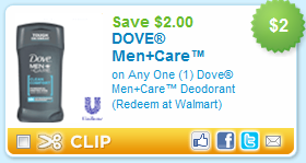 Dove Men+Care Deodorant Coupon