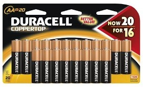Duracell Coppertop AA Batteries 20 Count