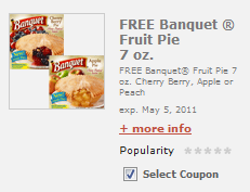 Banquet Fruit Pie E-Coupon