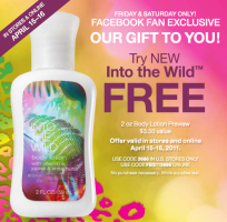 Bath & Body Works Into the Wild Lotion Free