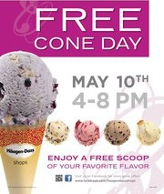 Haagen-Dazs FREE Cone Day May 10th