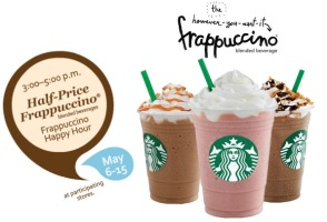 Starbucks Happy Hour Frappuccinos