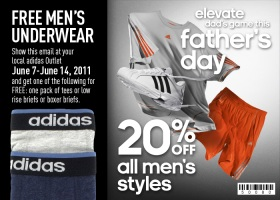 Adidas Outlet free tees & briefs