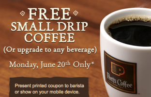 Free Peet's Coffee