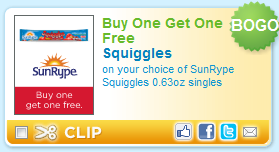 SunRype Squiggles Coupon
