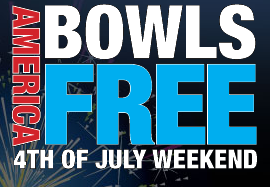 Free Bowling at Brunswick July 4th