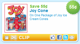 Joy Ice Cream Cone Coupon