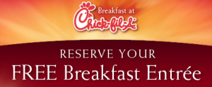 Chick-fil-a free breakfast