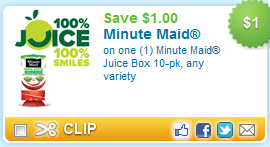 Minute Maid Juice Box Coupon