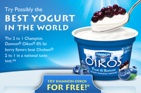 Dannon Oikos Greek Yogurt Coupon