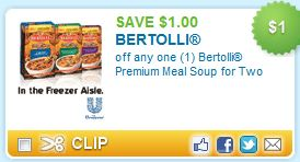 Bertolli Premium Meal Soup Coupon