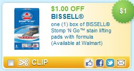 Bissell Stomp 'N Go Coupon