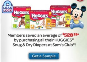 Huggies Snug & Dry Sample