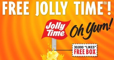Free Jolly Time Popcorn on Facebook