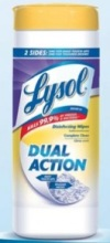 Lysol Dual Action Disinfecting Wipes Rebate