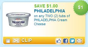 Philadelphia Cream Cheese printable coupon