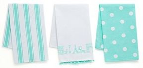 Set of 3 Souvenirs Tea Towels, Turquoise