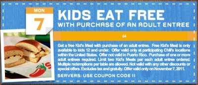 Chili's Printable Coupon