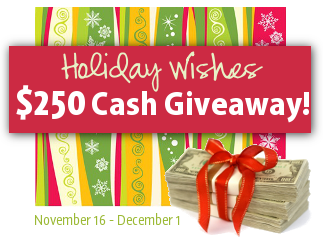 Holiday Wishes Cash Giveaway