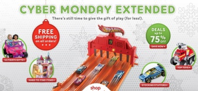 Mattel Cyber Monday Sale Extended