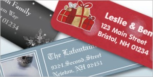 Vista Print Holiday Return Address Labels