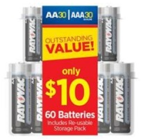 Rayovac Alkaline 1.5-Volt AA and AAA Batteries (60-Pack)