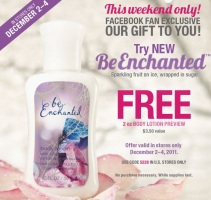 Free BeEnchanted Body Lotion