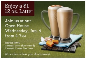 Coffee Bean Open House January 4