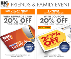 big lots coupon big lots save 20 entire purchase sat amp sun 10103